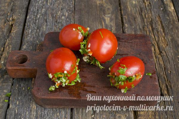 начиняем томаты