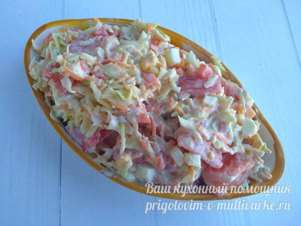 выкладываем салат в салатник