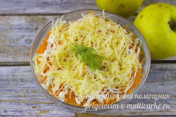 легкий салат с яблоками