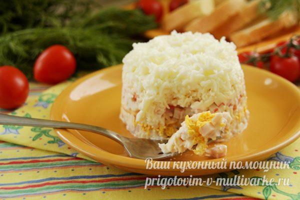 слоеный салат для праздника
