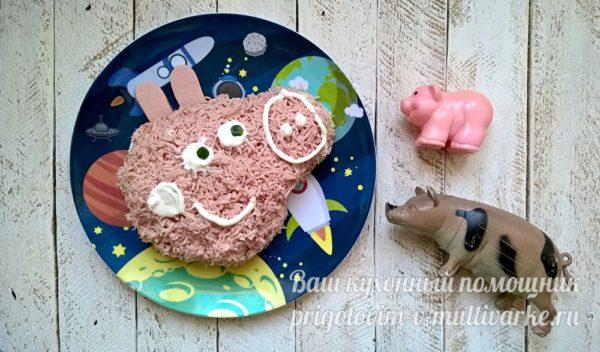 слоеный салат для детей