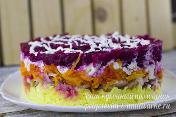 новогодний салат под шубой