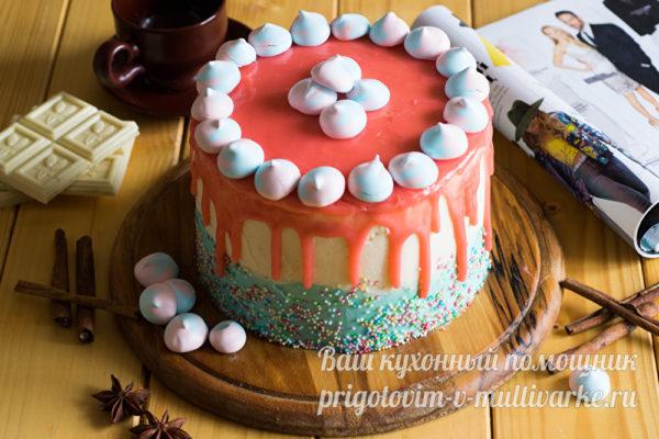 бисквитный торт с глазурью