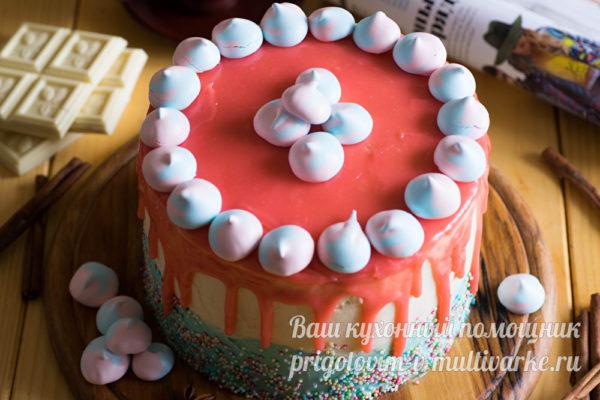 торт из тыквы с меренгами