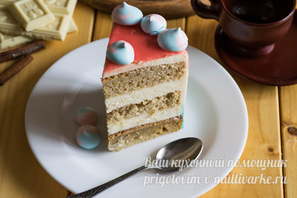 кусочек тыквенного торта