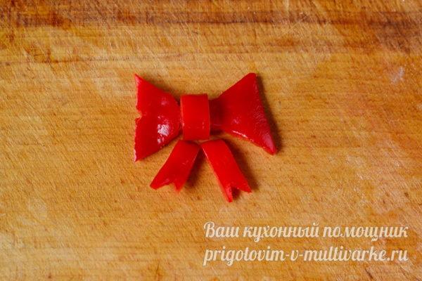 бантик из болгарского перца