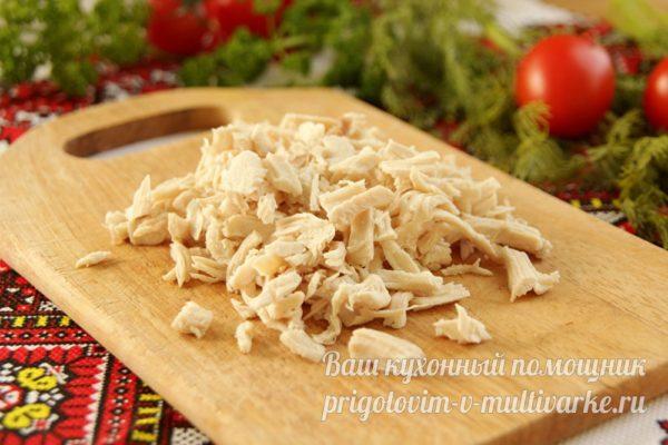 измельчаем куриное филе