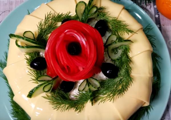 """Салат на Новый год 2019 """"Царский"""""""