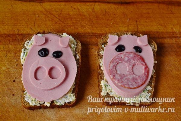 украшаем бутерброды