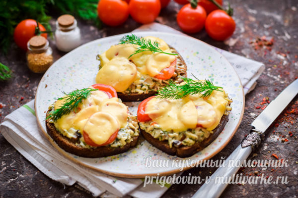 горячие бутерброды с сыром