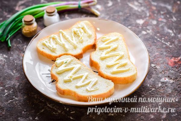 майонез на хлебе