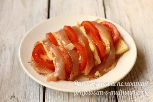 добавляем помидор