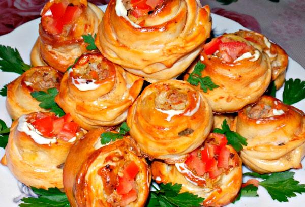 Картофельные розы с индейкой