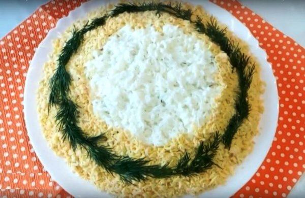 Вкусный салат «Мимоза» с тунцом