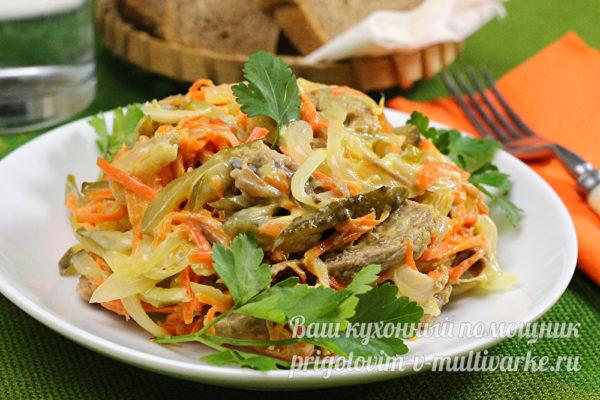 вкусный салат с мясом