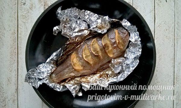 подрумяниваем рыбу
