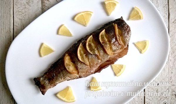 сибас в духовке с лимоном