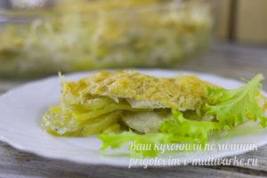 Запеканка с курицей и картошкой