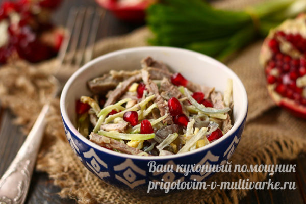 "классический рецепт салата ""Ташкент"""