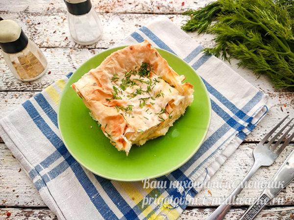 кусочек пирога с сыром
