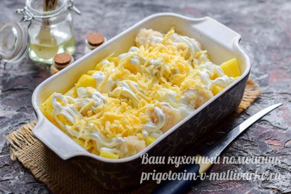 посыпать тертым сыром