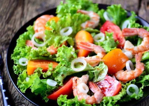 Рецепт салата с помидорами