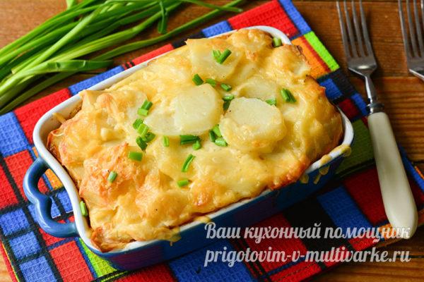 запеканка с картошки и сыра