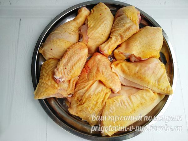 разделать курицу на порционные куски