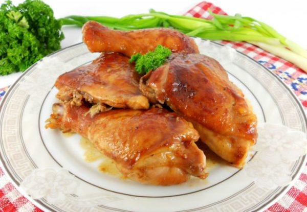 Курица в рукаве кусочками