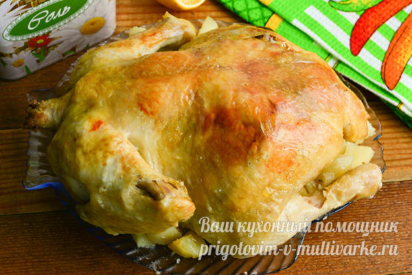 курица с картошкой готова
