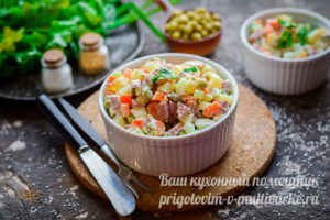 салат с колбасой и свежим огурцом