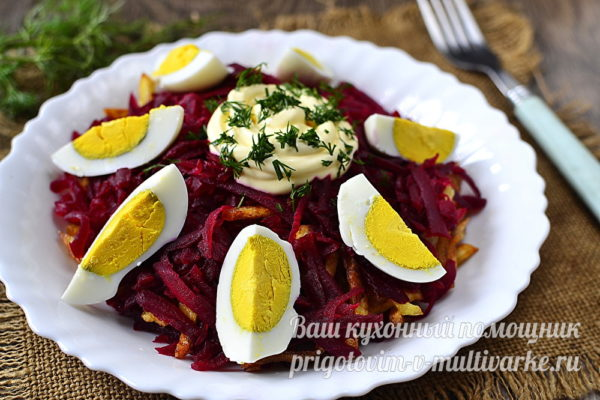 салат со свеклой картошкой и яцами