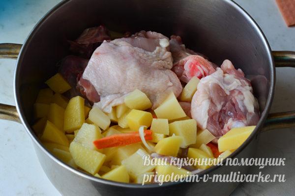 картошка и курица