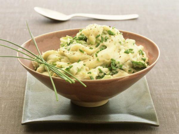 Овощное пюре с зеленым луком