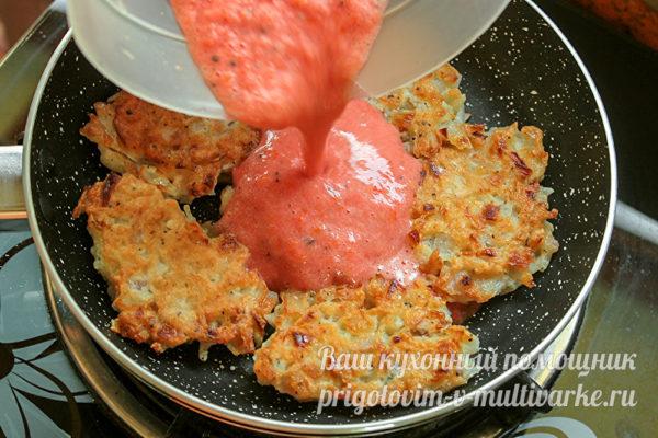 залить томатом