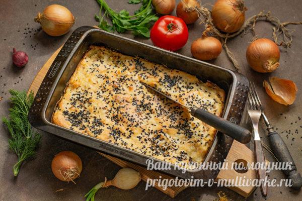 готовый рыбный пирог
