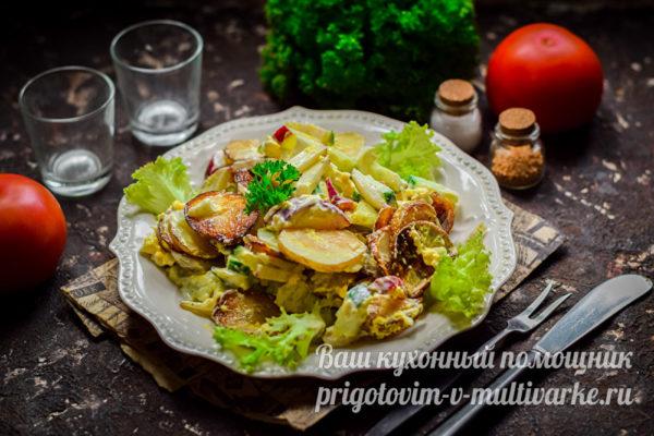 оригинальный салат с картошкой