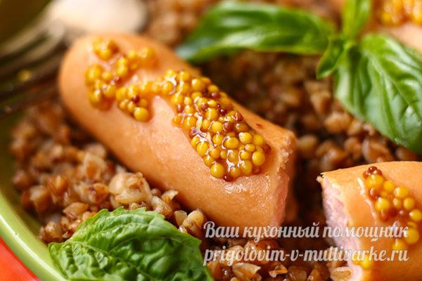 гречка и сосиски на ужин