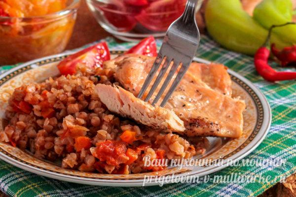 мясо и гречка на ужин