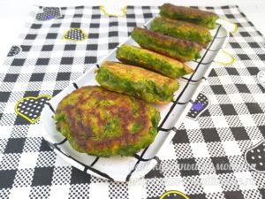 вкусные зеленые оладки