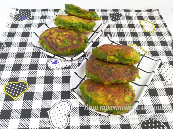 зеленые оладьи