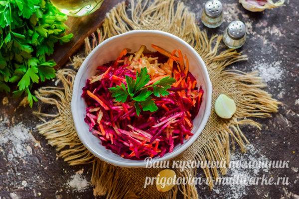 салат с овощей