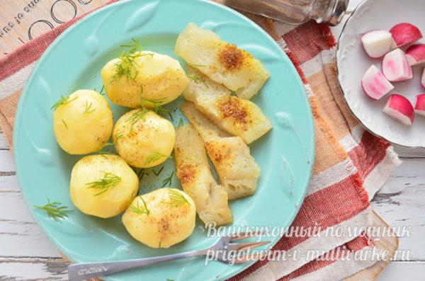 рыба и картошка на ужин