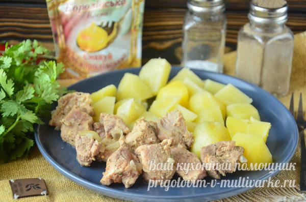 вкусное блюдо из картошки и свинины