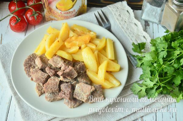 мясо с картошкой на ужин