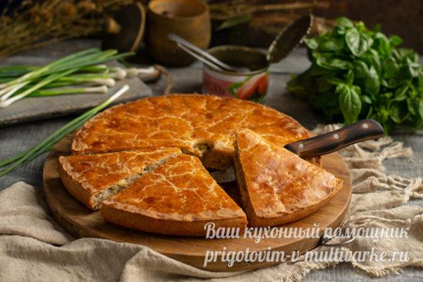 вкусный пирог с рыбными консервами