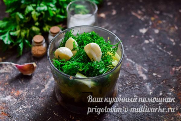 зелень и чеснок