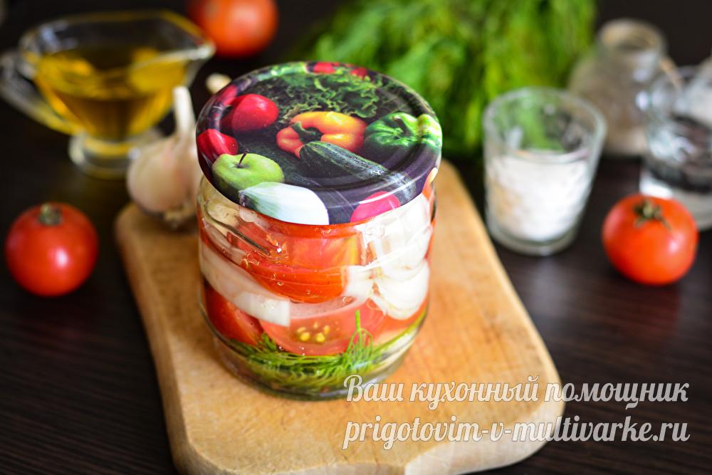 вкусные помидоры половинками