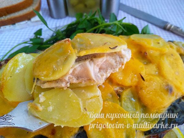 рыба с картошкой на ужин