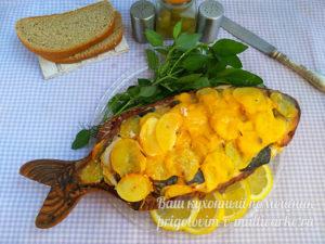 вкусная картошка и рыба